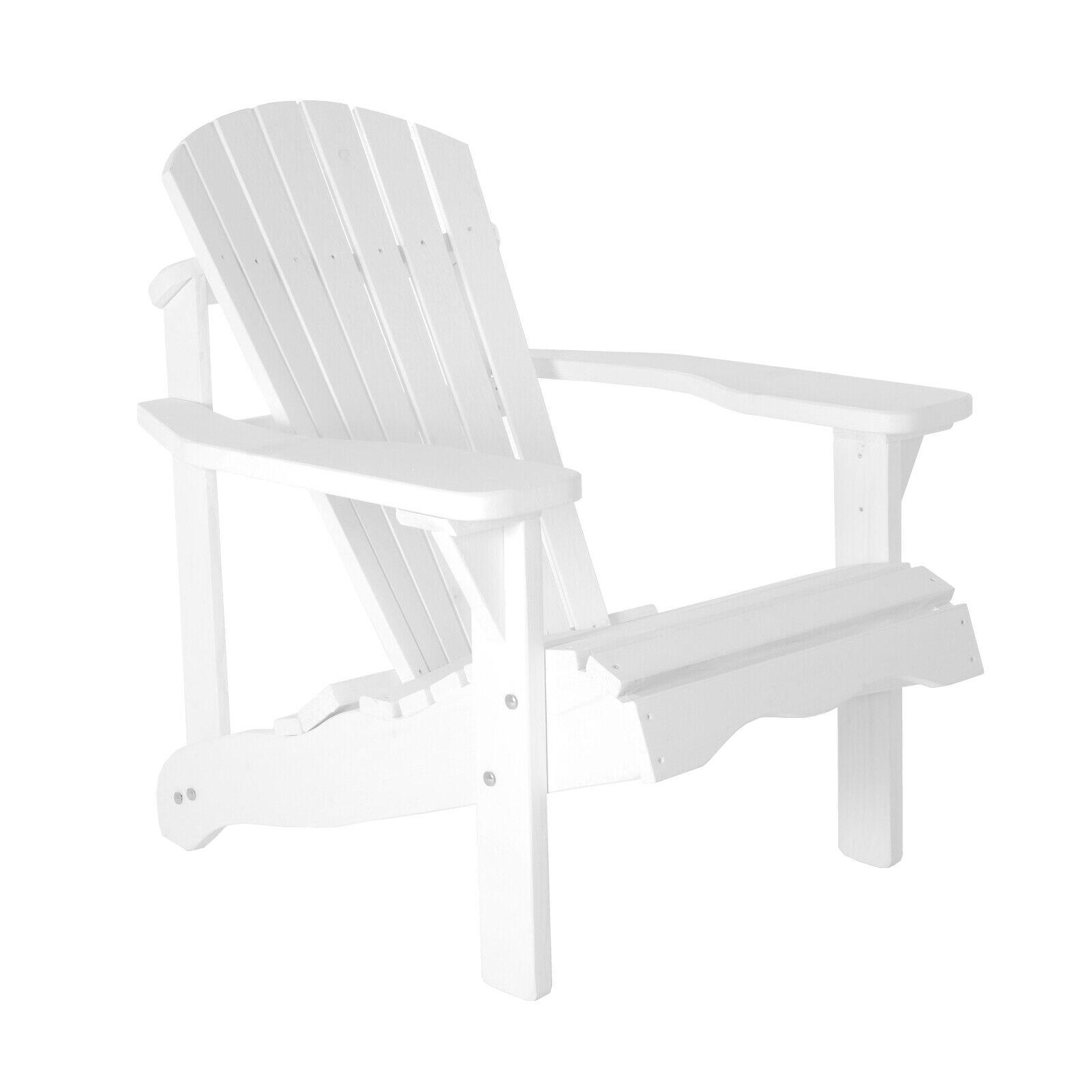 Gartenstuhl / Gartensessel Canadian Jumbo Adirondack Deckchair Holz Weiß