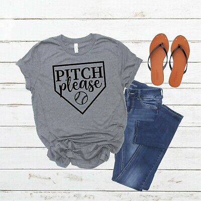 - Pitch Please Baseball Softball Unisex Graphic Tee Shirt T Shirt