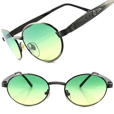 True Vintage Classic Old Fashioned Mens Womens Green Lens Round Oval (Old Fashioned Sunglasses)