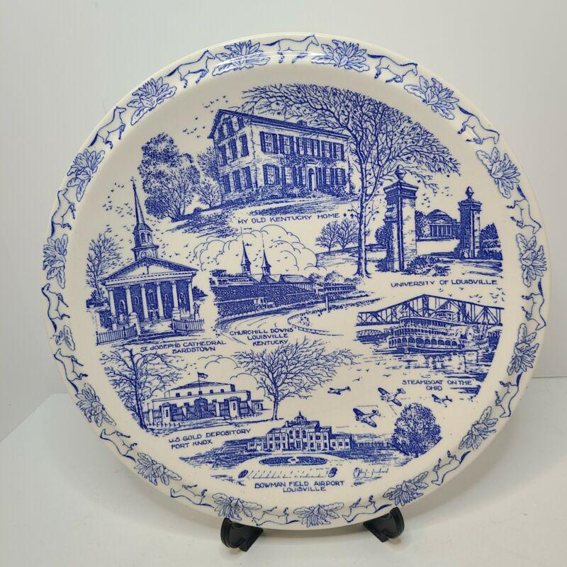Vintage Vernon Kilns Louisville Kentucky Souvenir Plate Landmark J. Bacon & Sons