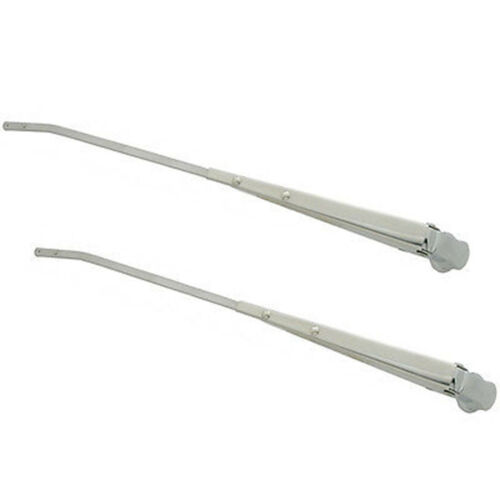 67-72 Chevy & GMC Truck Windshield Wiper Blade Arm Stainless Steel Chrome Pair