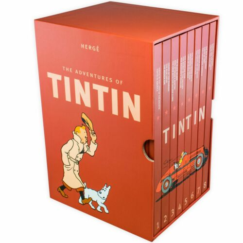 Complete Adventures Of Tintin 8 Books Young Adult Collection Hardback By Herge