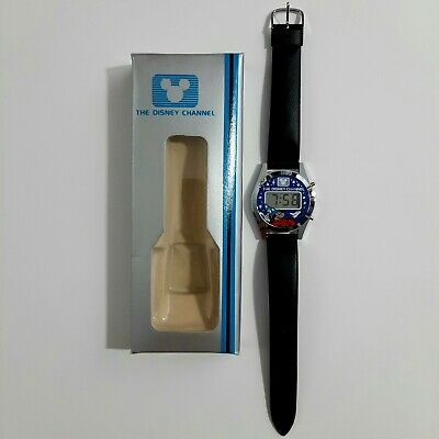 Vintage The Disney Channel Mickey Mouse Digital Quartz Watch New