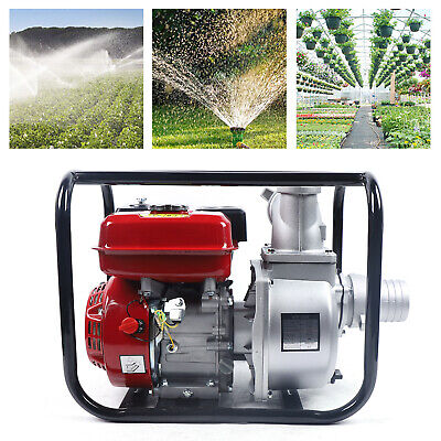 7.5 Hp Gas Power Semi-trash Water Pump High Pressure Garden Irrigation Us
