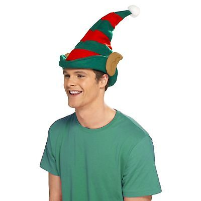 Erwachsene Weihnachten Santa's Elfen Ohr Hut Party Accessoire Rot Grün Herren ()