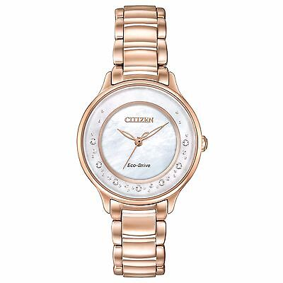 Citizen Eco-Drive Women's EM0382-86D Circle of Time Diamond Markers Watch