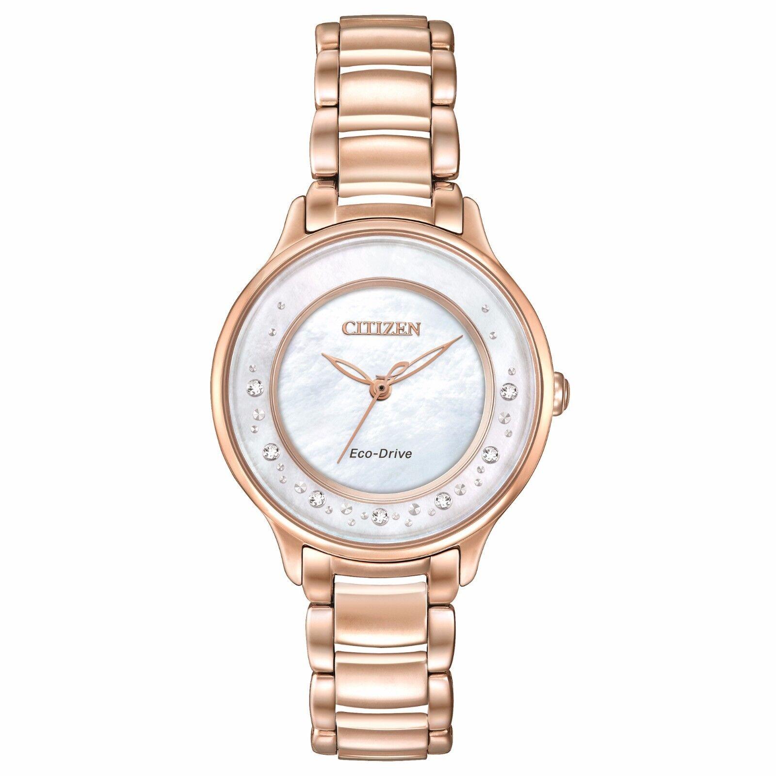 $102.99 -  Citizen Women's Eco-Drive EM0382-86D Circle of Time Diamond Accents 30mm Watch
