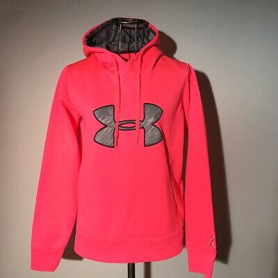 Breast Cancer Awareness Gear (UNDER ARMOUR Breast Cancer Awareness Hoodie M Cold Gear Fleece Storm)