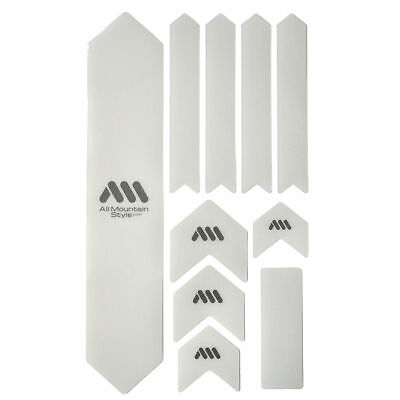 All Mountain Style HONEYCOMB MTB Frame Guard Protection Stickers CLEAR/SILVER XL