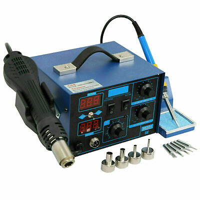2 In1 Smd Led Electric Hot Air Heat Gun Soldering Iron Station Desoldering Tools