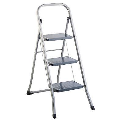 Klapptritt Stahl 3 Stufen Haushaltsleiter Stehleiter Sprossenleiter Klappleiter