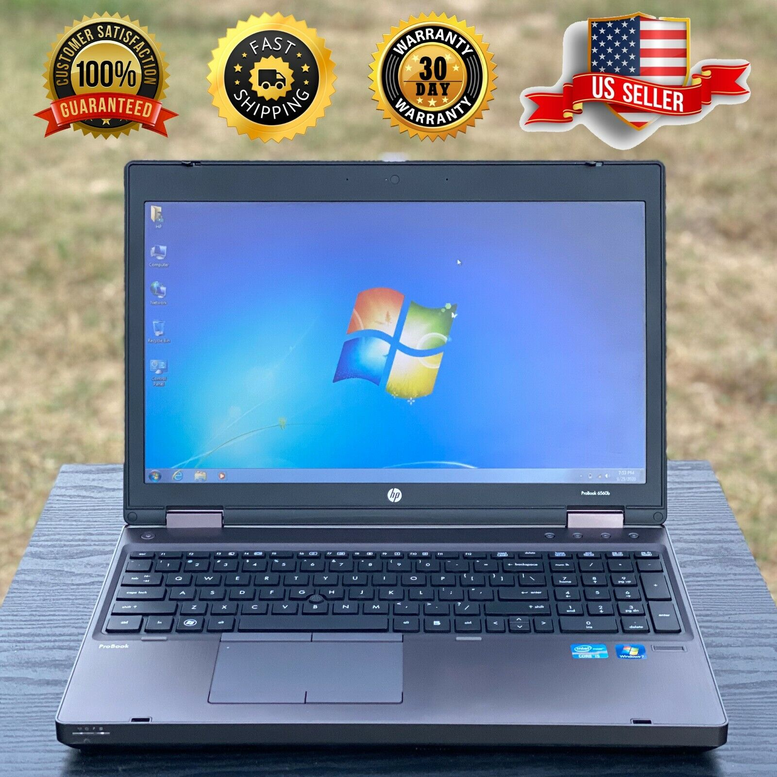 Laptop Windows - HP ProBoook Laptop With Microsoft Office | Windows 7 Pro | Core i5 | DVD | WIFI