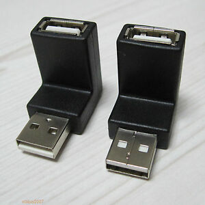 UP-Down-right-angle-90-degree-USB-2-0-type-A-male-to-Female-connector-adapter