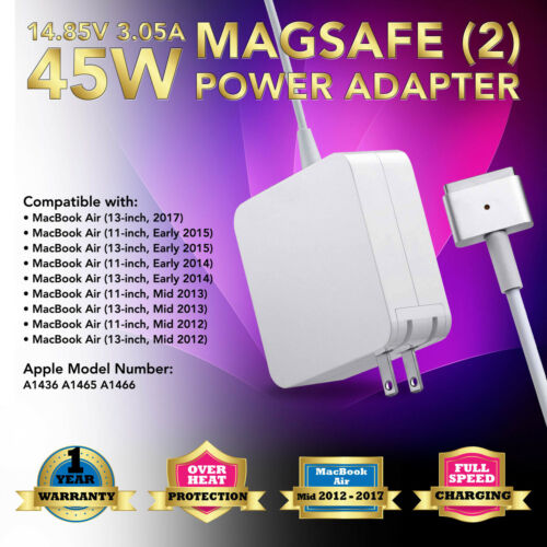 """45W AC Adapter Charger for Apple 11"""" 13"""" Macbook Air 2013 2014 2015 A1436 A1466"""