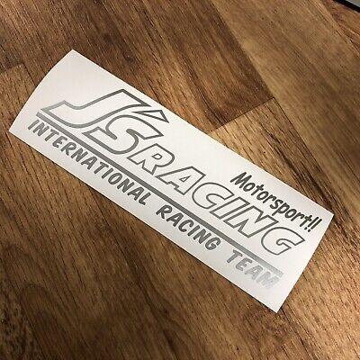 J's Racing Sticker Decal Vinyl Silver JDM Drift Honda Kanjo Turbo Civic EG EF EK for sale  Shipping to Ireland