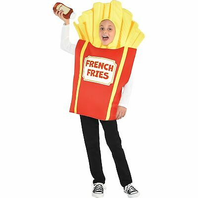 Kids Side of Fries Halloween Costume Simple Tunic Red French Fry Box with