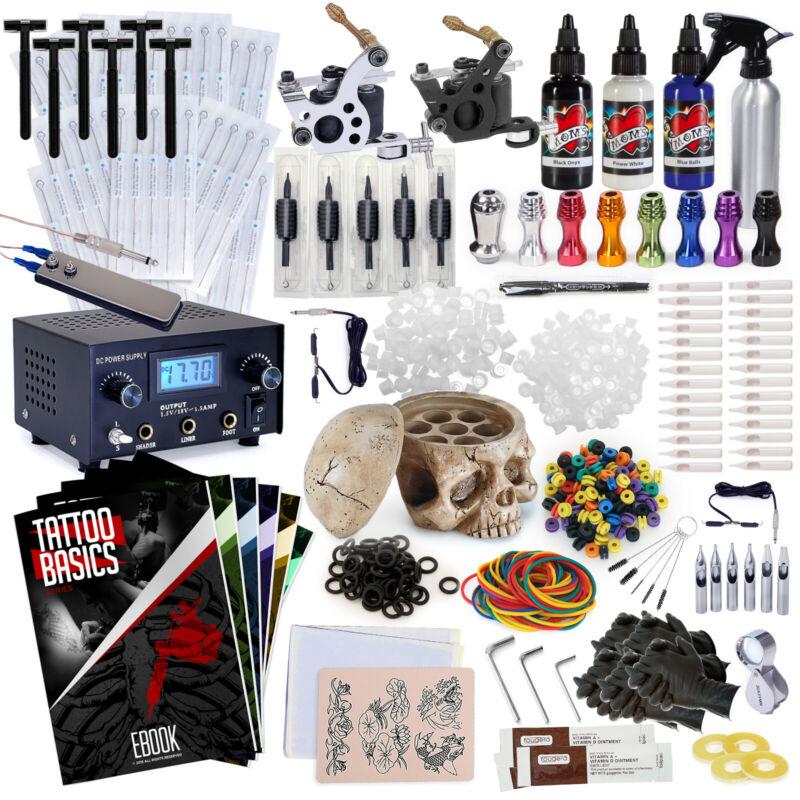 Complete Professional Tattoo Kit - Machine Equipment Set