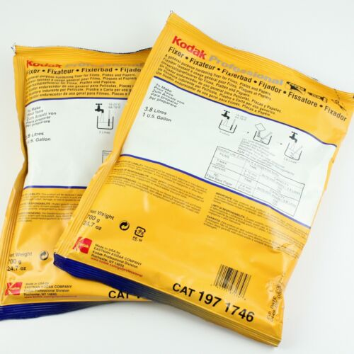Two 1-Gallon Packages *Outdated* Kodak Print + Film Fixer - Sealed Packs
