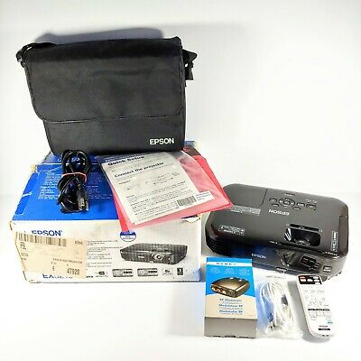 Epson Portable Projector Bundle EX5210 2800 Lumens 3LCD W Remote Bag Tested