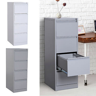 52h 4 Drawer Freestanding Vertical Home Office File Cabinet W Lock Steel Metal