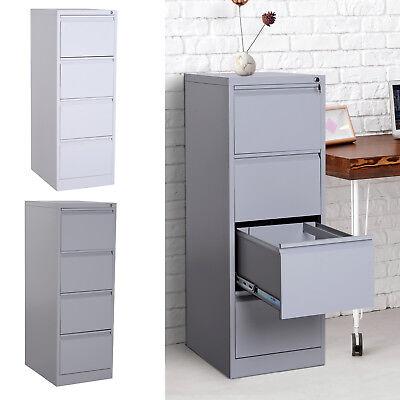 52h 4 Drawer Freestanding Vertical Home Office File Cabinet W Lock Steel Metal