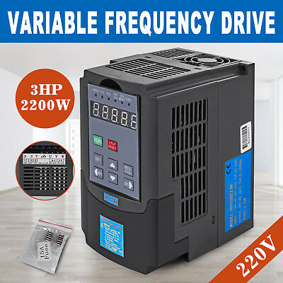2.2kw 220v 3hp Single Phase Variable Frequency Inverter Motor Speed Drive