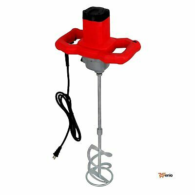 Mortar Mixer Electric 1600w Dual High Low Gear 6 Speed Paint Cement Grout-rsenio