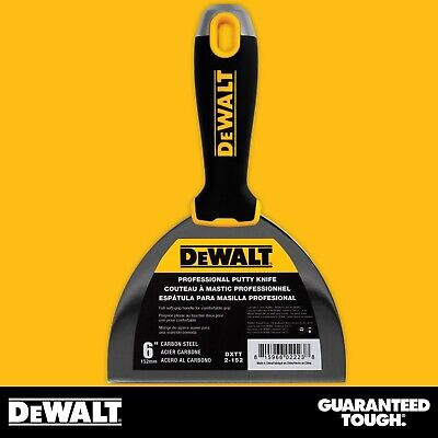Dewalt Putty Knife 6 Carbon Steel Flexible Drywall Joint Paint Scraper