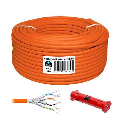 Cat 7 Netzwerk LAN kabel Verlegekabel 50m Kupfer S/FTP Orang Cat.7 Installation