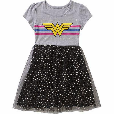 Wonder Woman Girl's Tutu Dress Size: 4-5, 6/6X, 7-8 New With Tags - Wonder Woman With Tutu