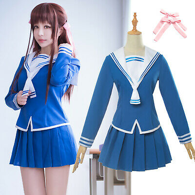 Fruits Basket Cosplay Costume Tohru Honda Cosplay Uniform JK Girl Sailor Uniform - Girls Sailor Costume