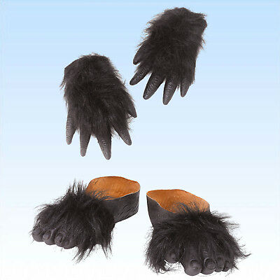ße zum Überziehen Affenschuh Schuh Kostümschuhe Überzieher (Gorilla Füße)
