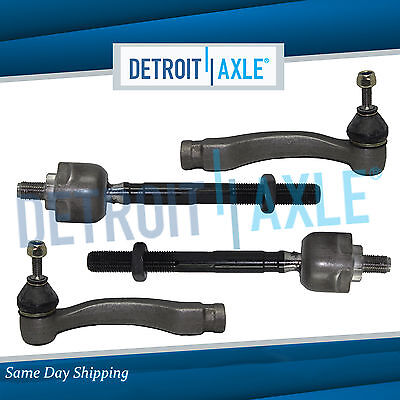 All 4 New Inner and Outer Tie Rod Ends for Honda Civic Acura EL