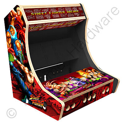 "BitCade 2 Player 19"" Bartop Arcade Cabinet Machine with Street Fighter Artwork"