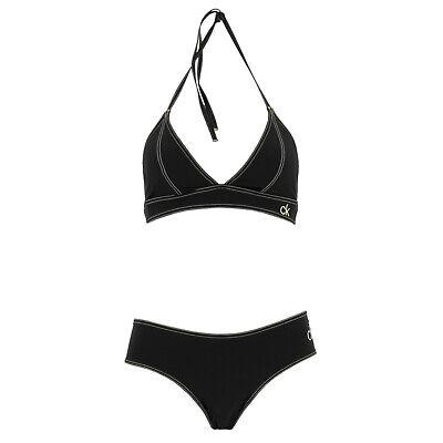 CALVIN KLEIN Damen Triangel Bikini Set KW0KW00554 Schwarz / S (36) / Bademode