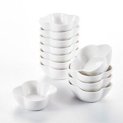 "24-Piece 3"" Ceramic Serving Ramekin Dishes Porcelain China Dessert Dip Set of 24"