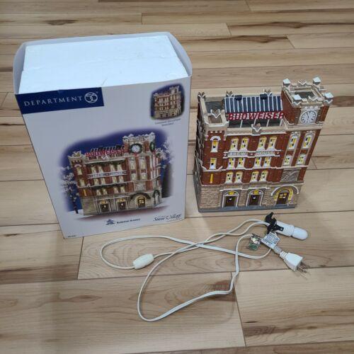 "Department 56 Snow Village ""BUDWEISER BREWERY BREW HOUSE"" 56.55361 Original Box"