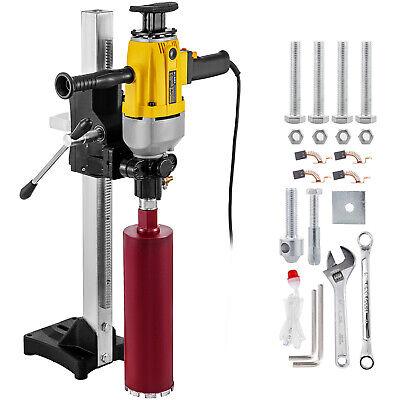 6.9 Diamond Core Drill Concrete Drilling Machine With Stand Drill Bits 2460w