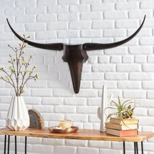 Treutlen Aluminum Handcrafted Medium Bull Wall Decor Home & Garden
