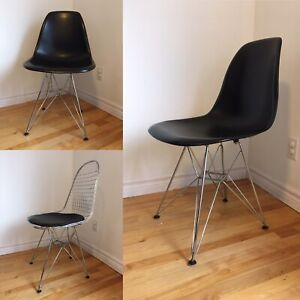 Moulded plastic chairs - Eames style