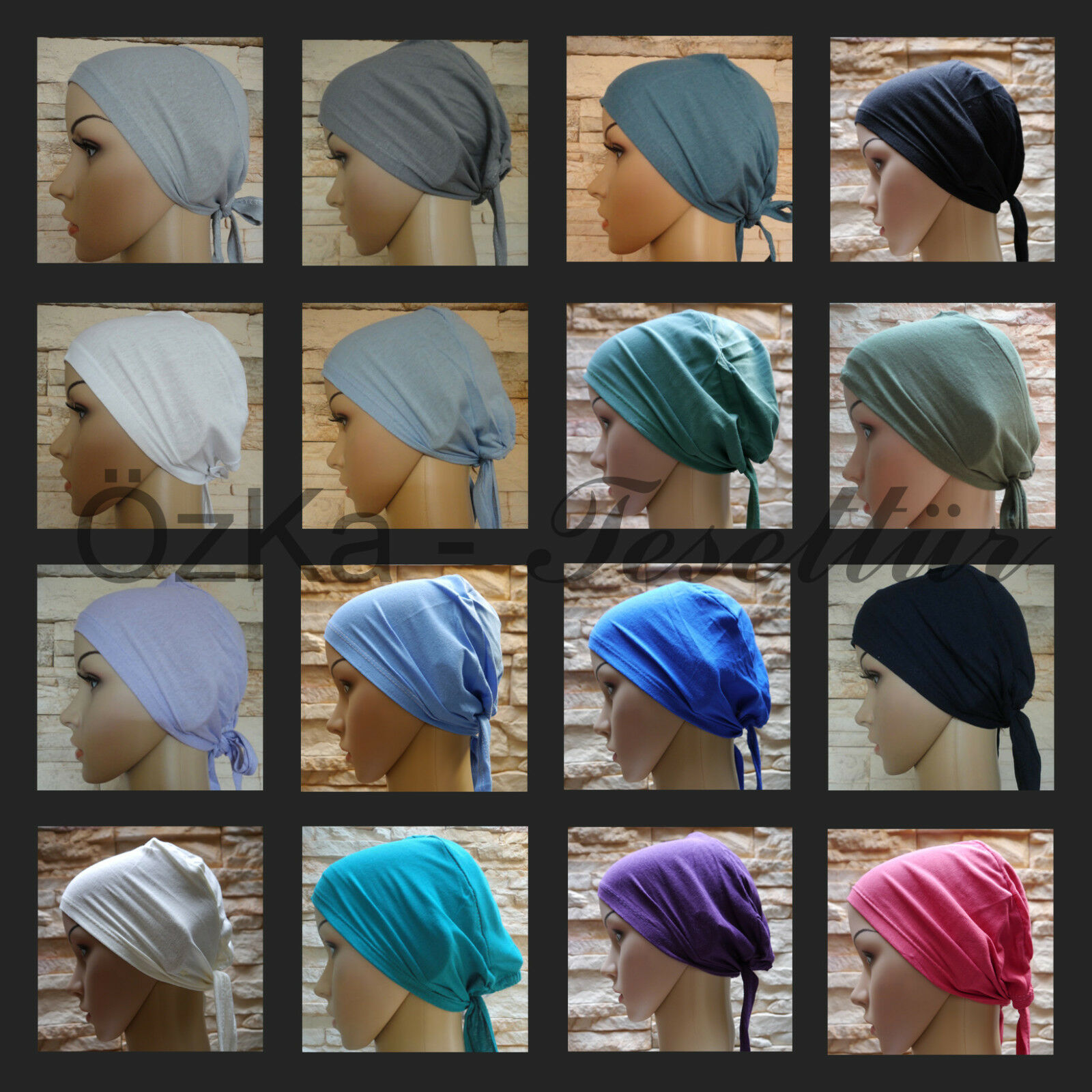 BONE Untertuch Bandana Tuch Kopftuch Hijab Tesettür Esarp Baumwolle Bonnet Scarf
