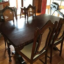 Jacobean oak Dinning table,chairs and matching Lounge Eltham Nillumbik Area Preview