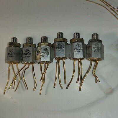 6pcs Ti 2n2552 Germanium Vintage Transistors Texas Instruments 196566