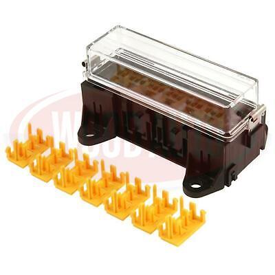 7 Way Relay Box Holder Kit 4 & 5 Pin Relays 12V 24V Automotive Wood Auto Rly2011
