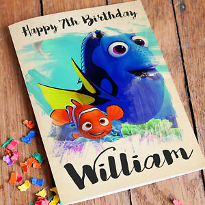 FINDING NEMO DORY Personalised Birthday Card FREE Shipping   Daughter Sister