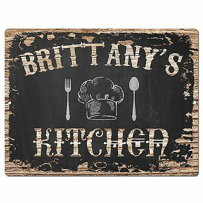 PP2018 BRITTANY'S KITCHEN Plate Chic Sign Home Room Kitchen Decor Birthday Gift