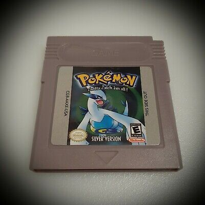 Pokemon Silver Version GameBoy Color GBC (FREE SHIPPING)