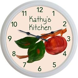 Franciscan Apple Wall Clock Custom Personalized Kitchen Image New 10