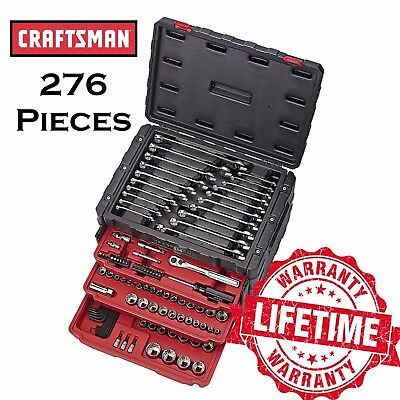 CRAFTSMAN 276 Breeze scolding Mechanics Instrumentality Set w. 3 Drawer Breast Temper Bite the bullet Metric SAE
