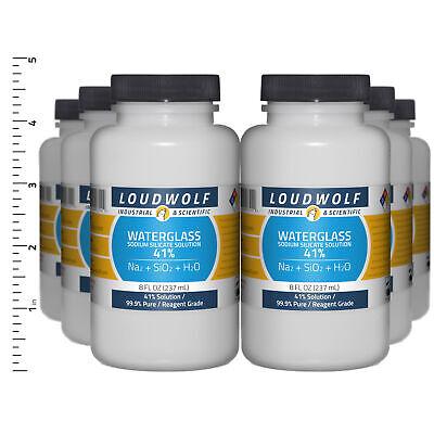 Sodium Silicate 3 Lb Total 6 Bottles Reagent Grade 41 Solution Usa Seller